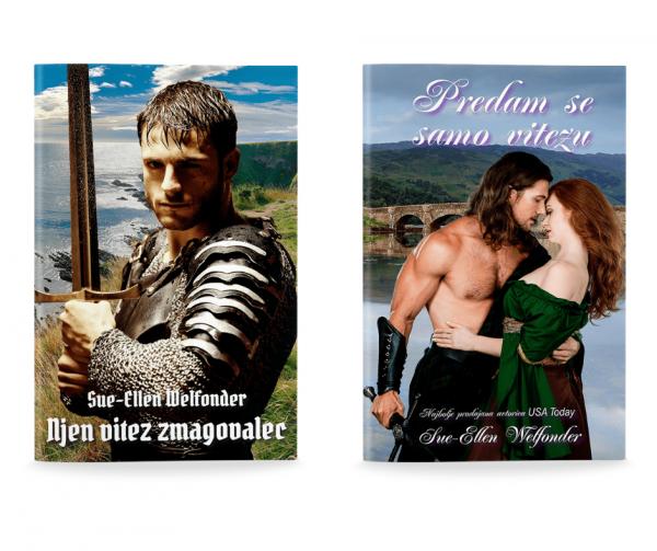 Sue-Ellen Welfonder: Komplet  NJEN VITEZ ZMAGOVALEC & PREDAM SE SAMO VITEZU (broširano)